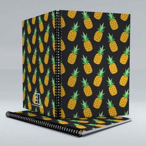 Pineapple pattern notebook image