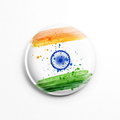 indianflagbadge