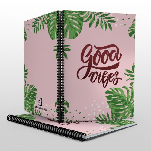 Good vibes notebook image