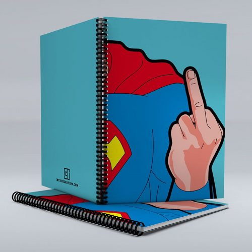 Superman salute notebook image