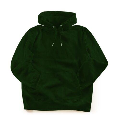 bottle-green-plain-hoodie-mydesignation-product-image