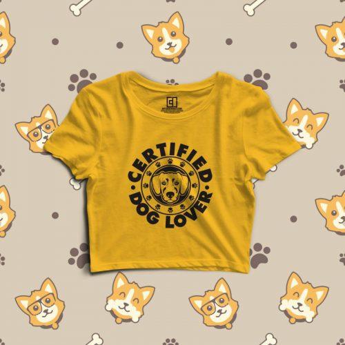 Dog lover crop top image