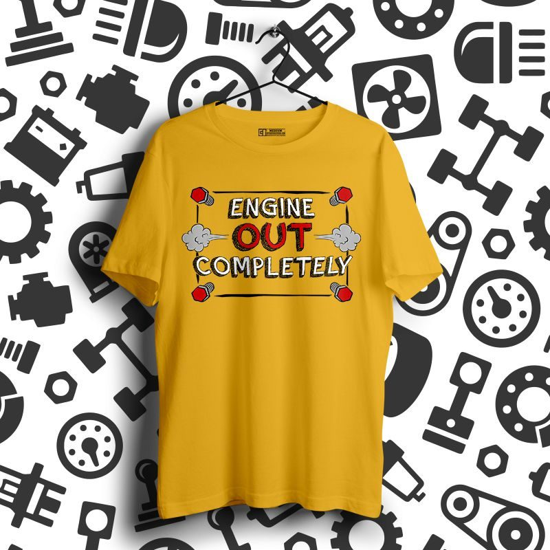 Engine out complete tshirt image