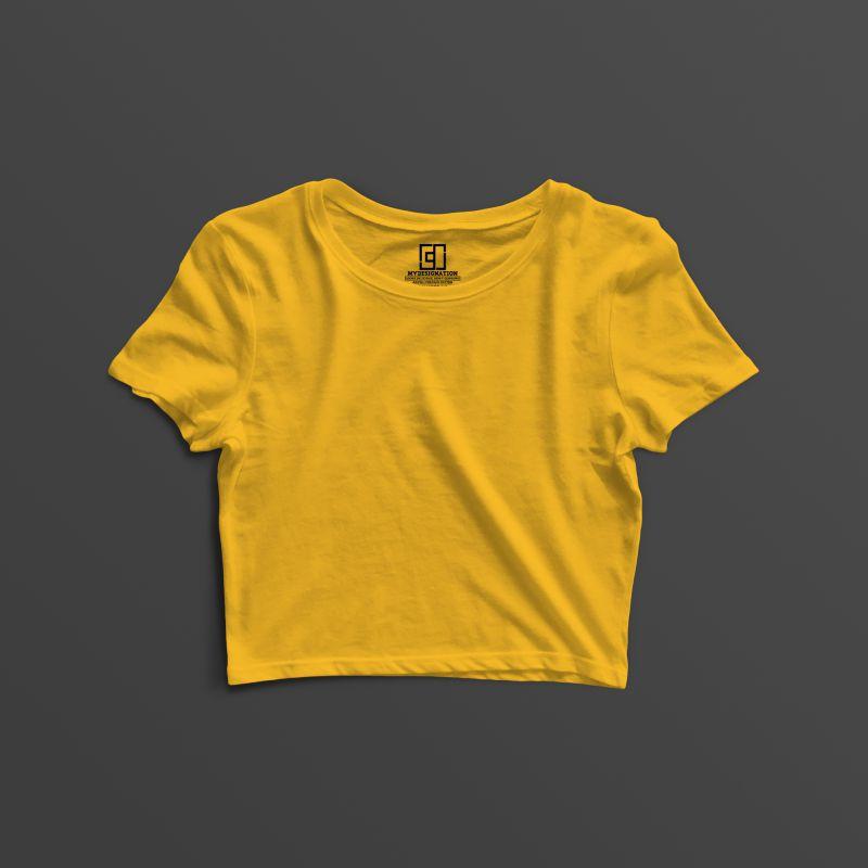 Golden yellow crop top image