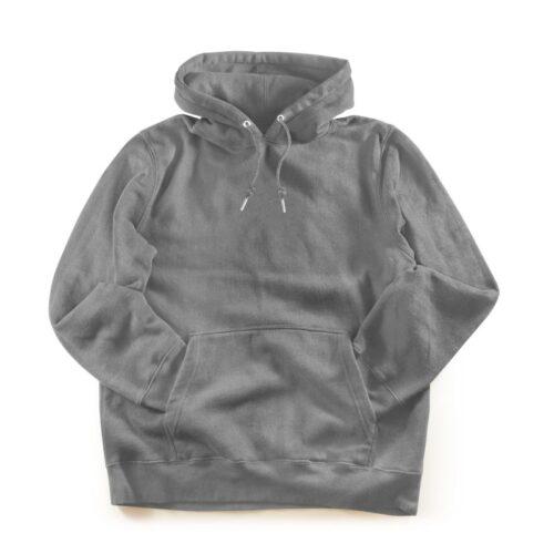 grey-melange-plain-hoodie-mydesignation-product-image