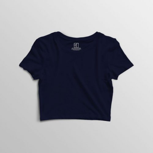 Navy blue crop top image