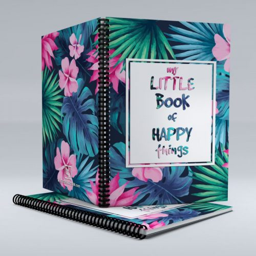 Tropical floral notebook image
