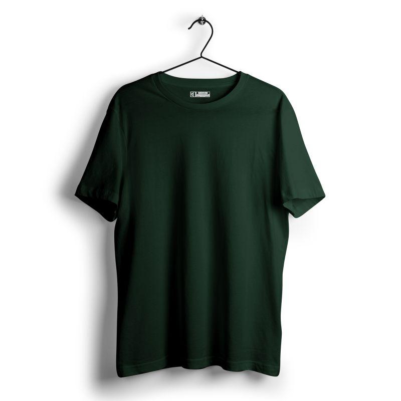 Bottle green plain tshirt image from mydesignation