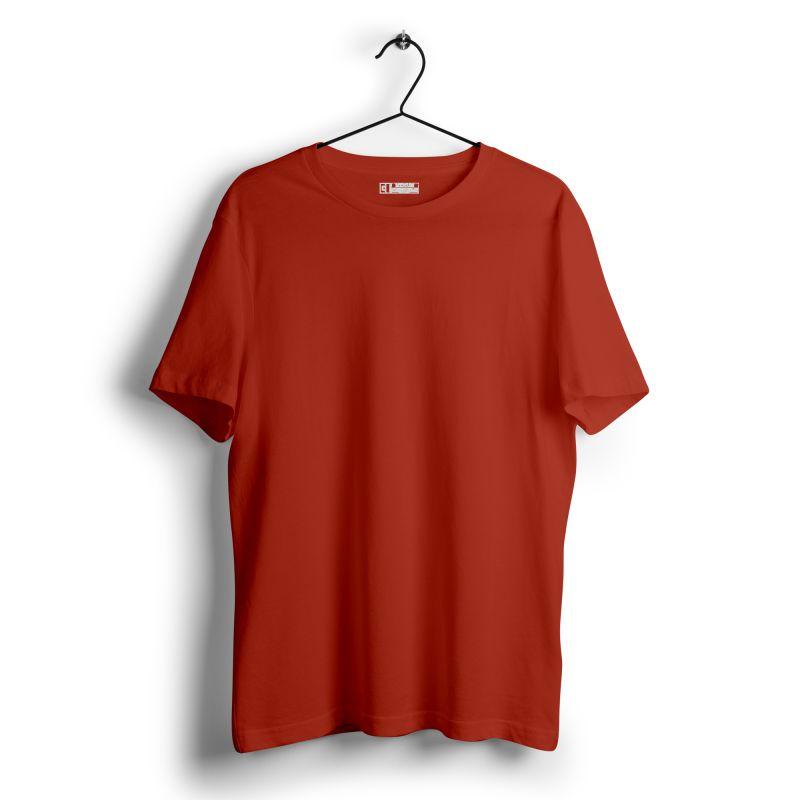 Brick red plain tshirt image