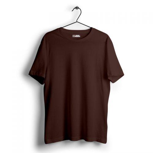 Coffee brown plain tshirt image