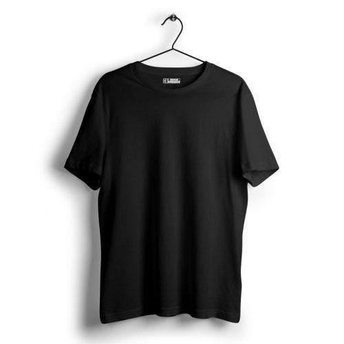 Crisp black plain tshirt image from mydesignation