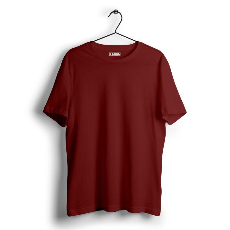 Maroon plain tshirt image