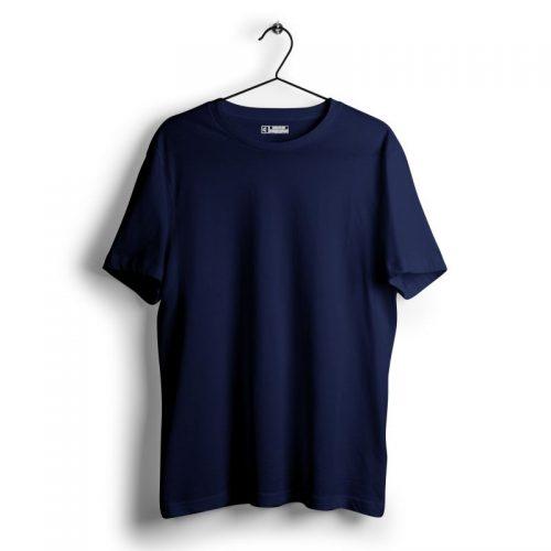 Navy blue plain tshirt image