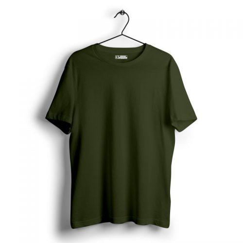 Olive green plain tshirt image