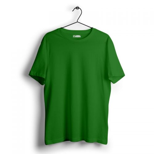Parrot green plain tshirt image