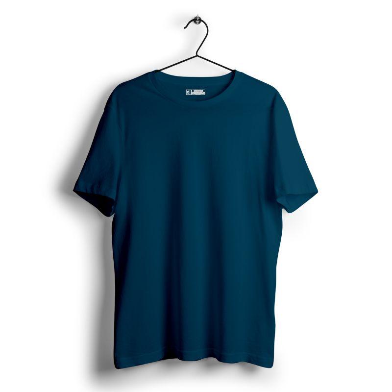 Petrol blue plain tshirt image