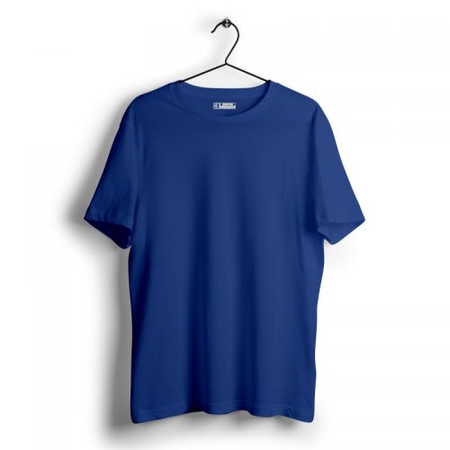 Royal blue plain tshirt image