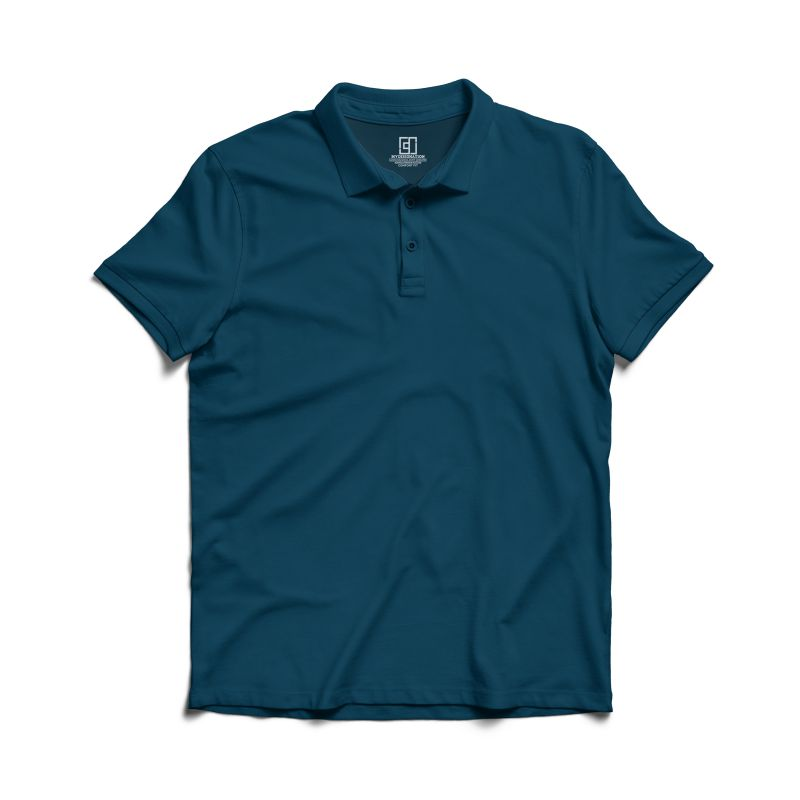 Petrol blue polo tshirt image mydesignation