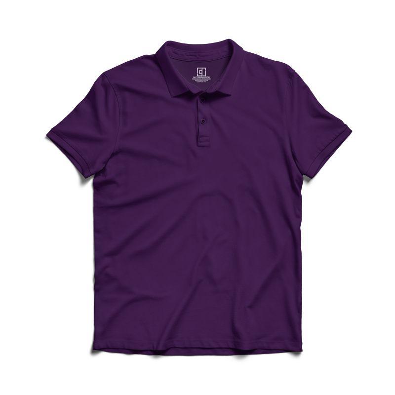 Purple polo tshirt image mydesignation