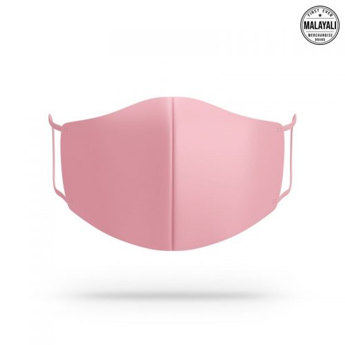Baby pink face mask image