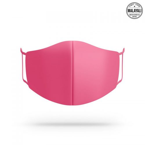 Hot pink face mask image