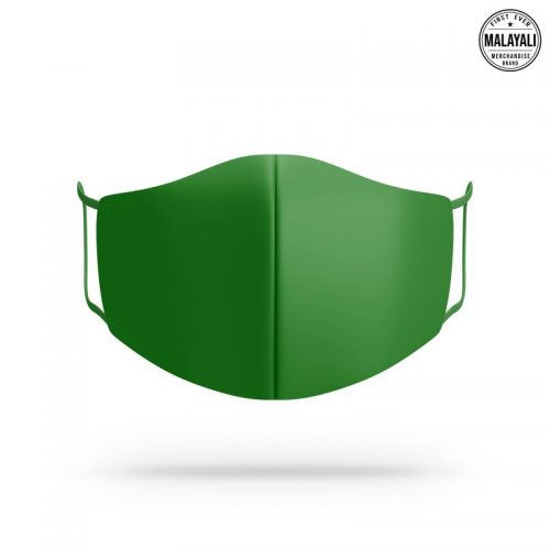 Parrot green face mask image