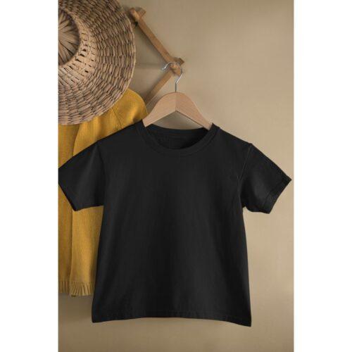 black-kids-tshirt-plain-image-