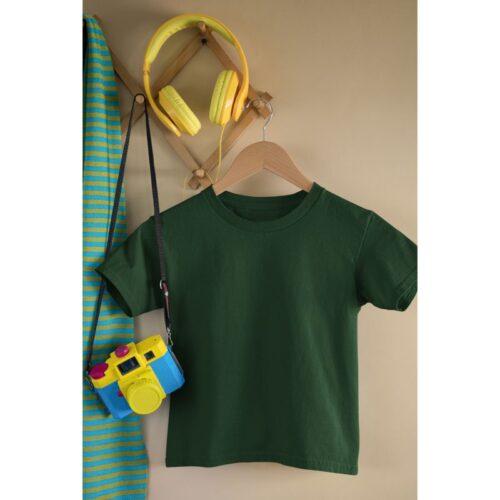 bottle-green-kids-tshirt-plain-image-