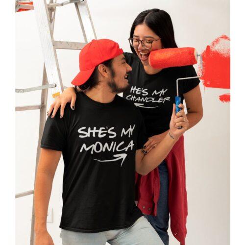 monica-chandler-couple-tshirt-mydesignation-photoshoot